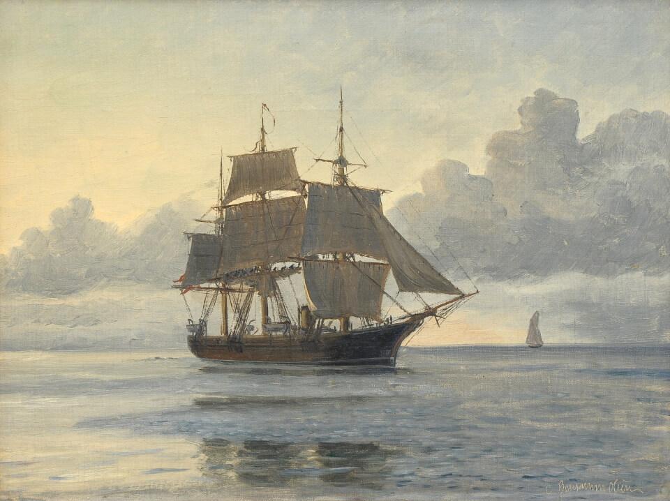 Galerie RIECK - Christian B. Olsen_Großsegler im Morgenlicht