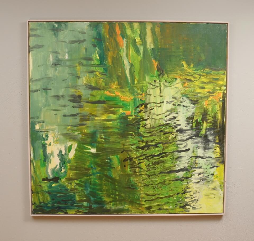 Galerie RIECK - Vibeke Tøjner, Wasserspiegelung_mit Rahmen
