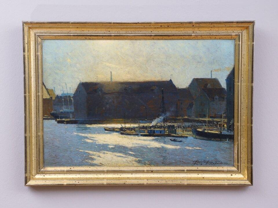 Galerie RIECK - Victor Qvistorff_Gegenlicht im Hafen_mit Rahmen