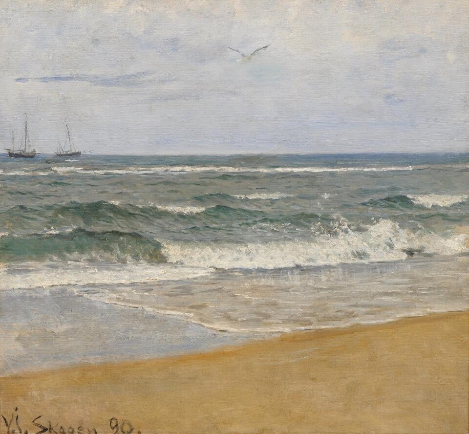 Galerie RIECK - Viggo Johansen_Schiffe vor Skagen