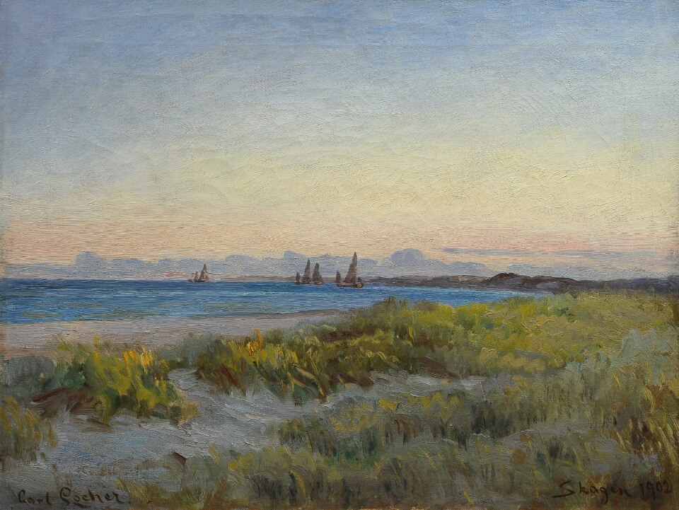 Galerie RIECK - Carl Locher_Abendstimmung Sønderstrand