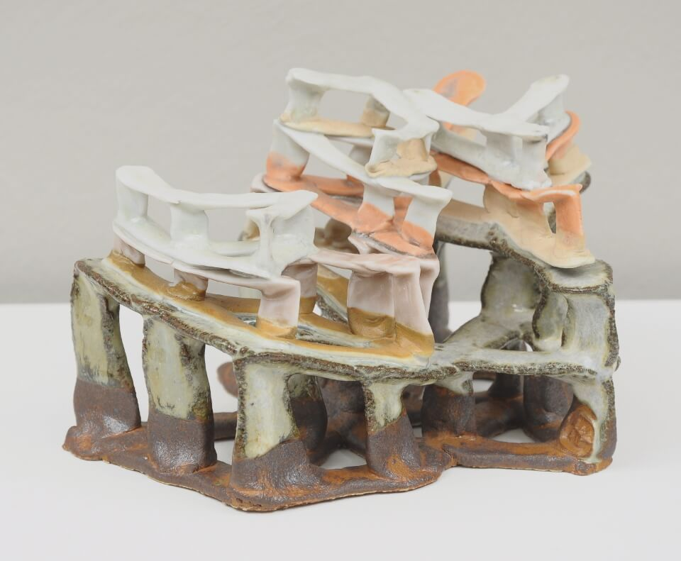 Galerie RIECK - Charlotte Thorup_Uneven Spaces_orange_1