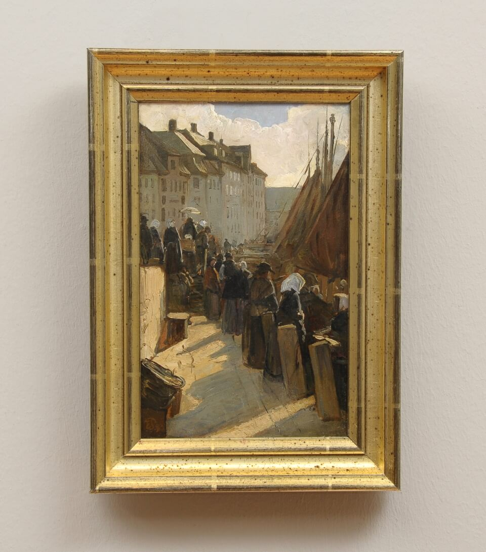 Galerie RIECK - Edvard Petersen_Alter Anleger Højbro_mit Rahmen