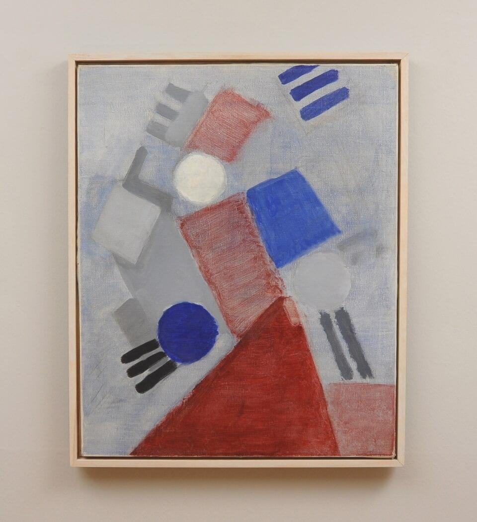 Galerie RIECK - Else Fischer-Hansen_Farbkomposition_mit Rahmen