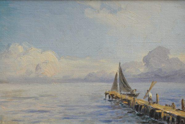 Galerie RIECK - Holger Lübbers_Segler am Steg