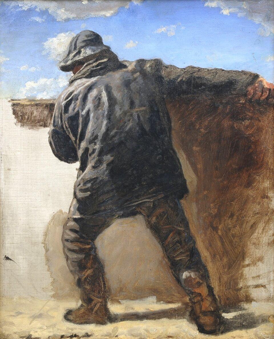 Galerie RIECK - Holger Roed_Studie eines Fischers