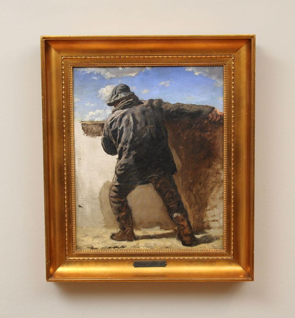 Galerie RIECK - Holger Roed_Studie eines Fischers_mit Rahmen