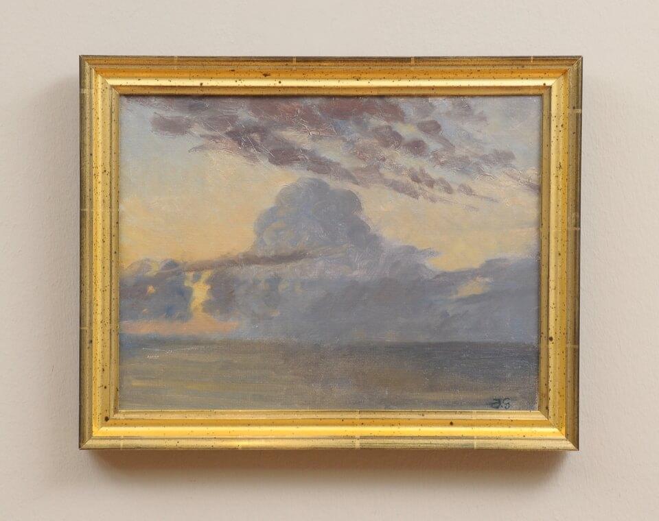 Galerie RIECK - Johannes Grenness_Wolken über dem Kattegat_mit Rahmen