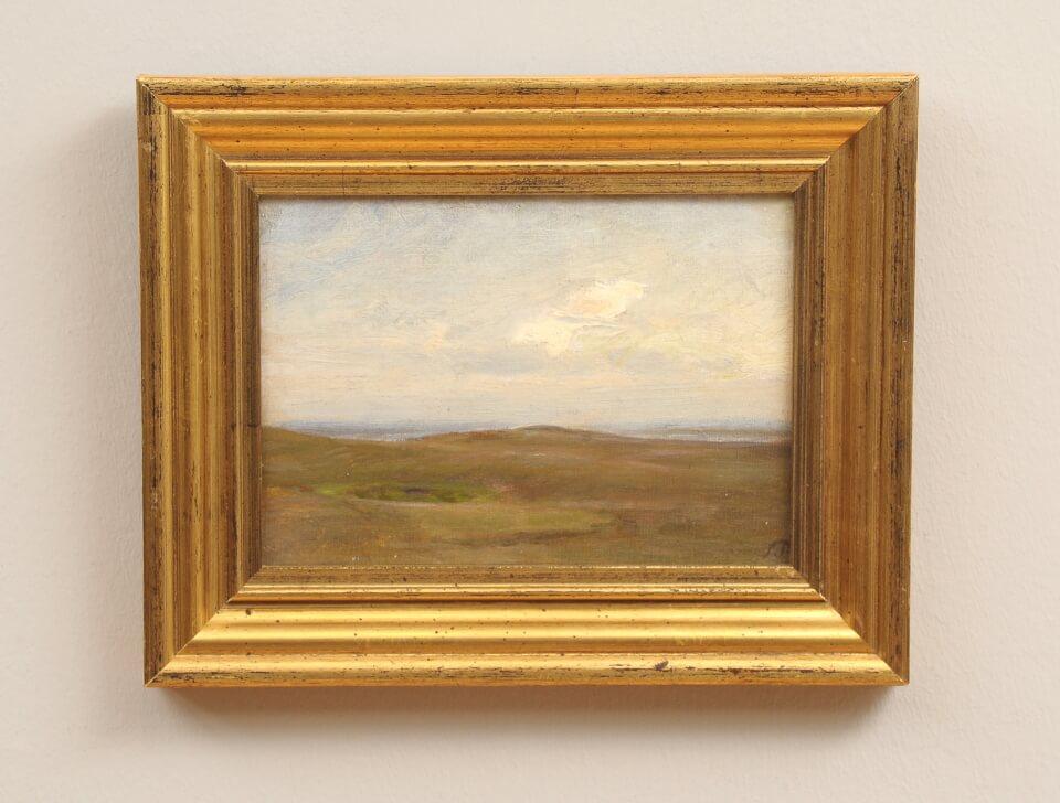 Galerie RIECK - Julius Paulsen_Himmel über der Heide_mit Rahmen