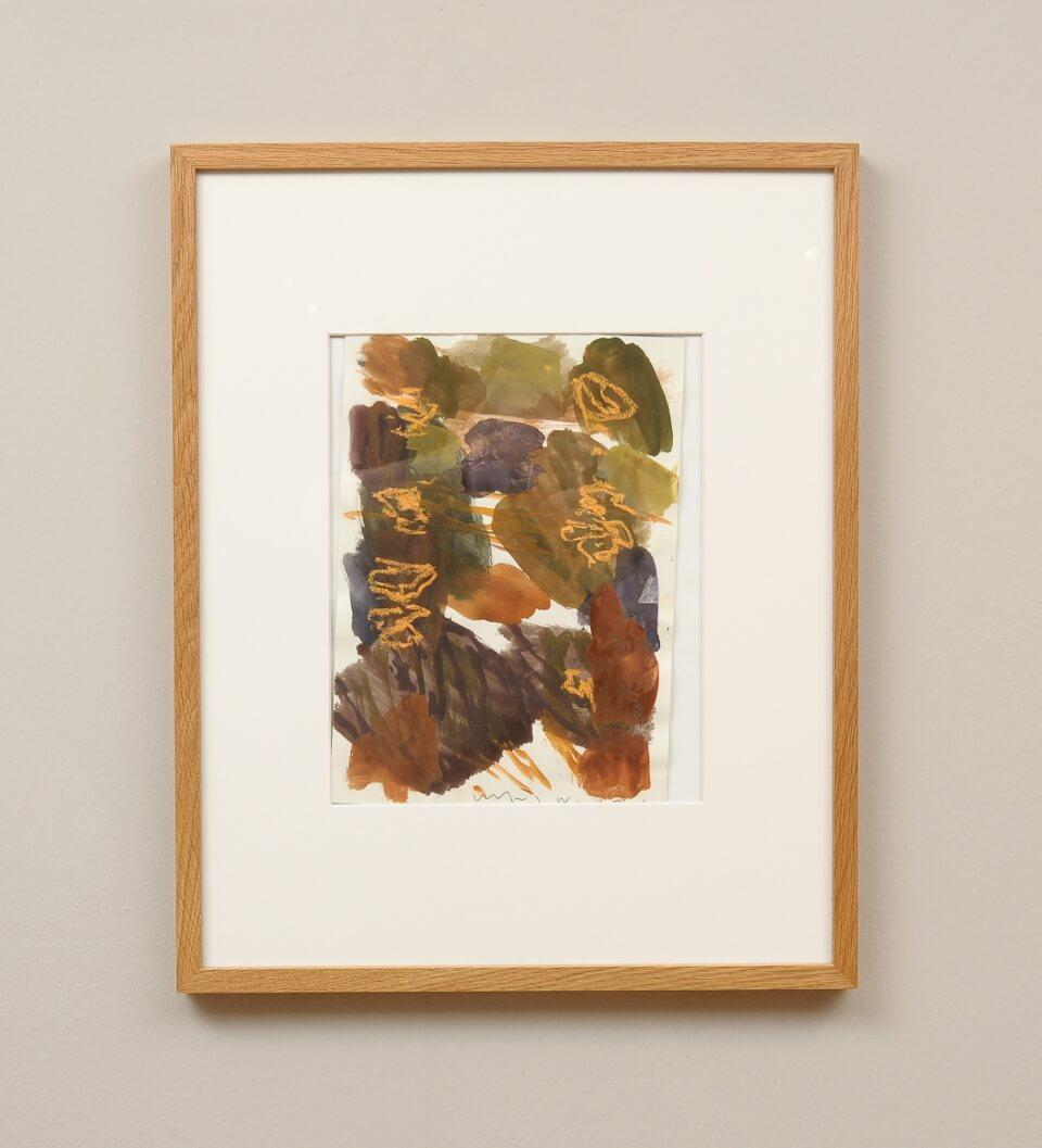 Galerie RIECK - Kehnet Nielsen_Komposition Aquarell_mit Rahmen