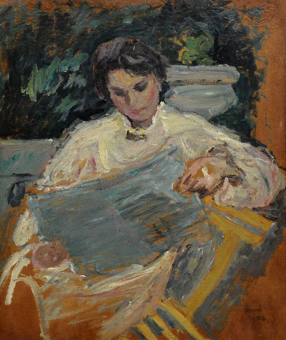 Galerie RIECK - Ludvig Find_Studie einer Frau