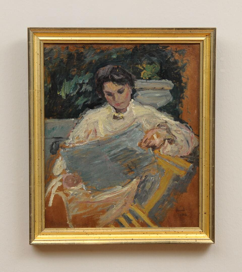 Galerie RIECK - Ludvig Find_Studie einer Frau_mit Rahmen