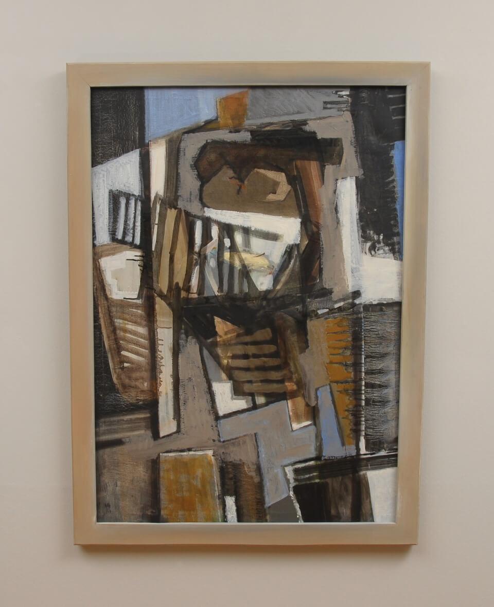 Galerie RIECK - Mogens Andersen_Abstrakte Komposition_mit Rahmen