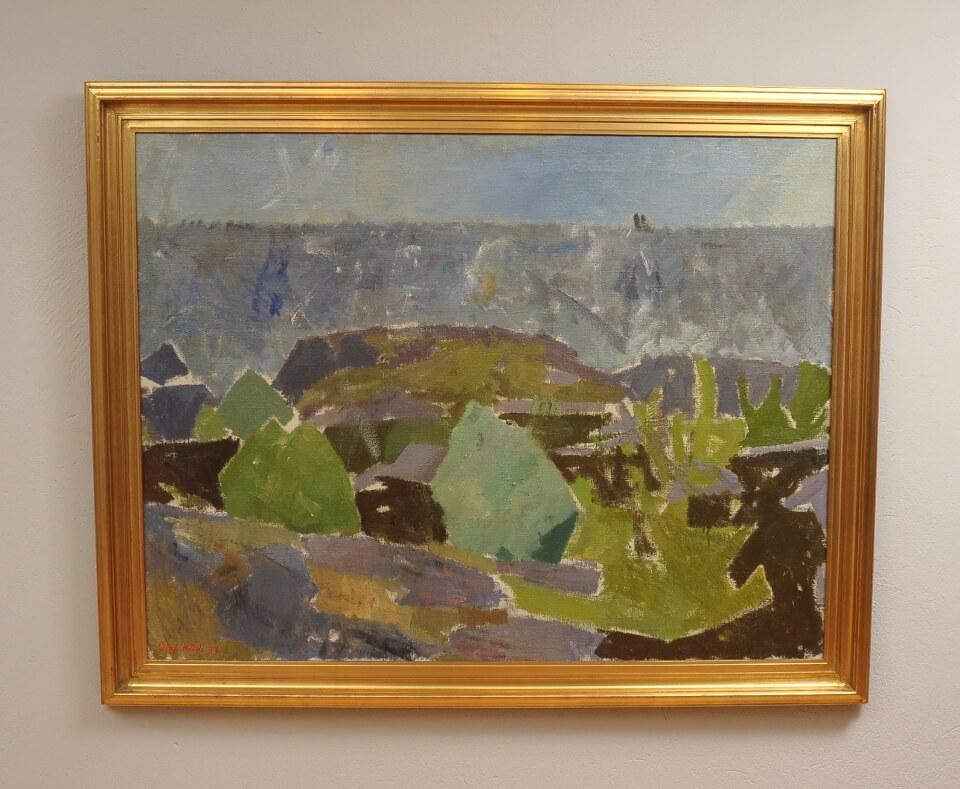 Galerie RIECK - Olaf Rude_Küste Bornholm_mit Rahmen