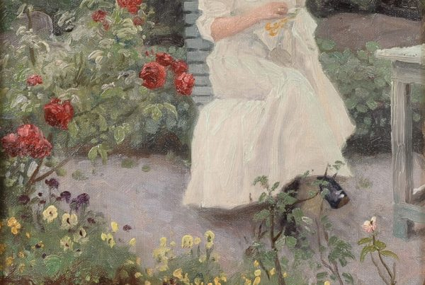 Galerie RIECK - Paul Fischer_Frau auf der Gartenbank