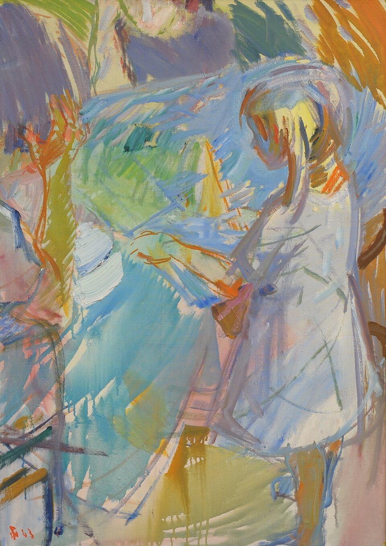 Galerie RIECK - Poul S. Nielsen_Mädchen am Tisch