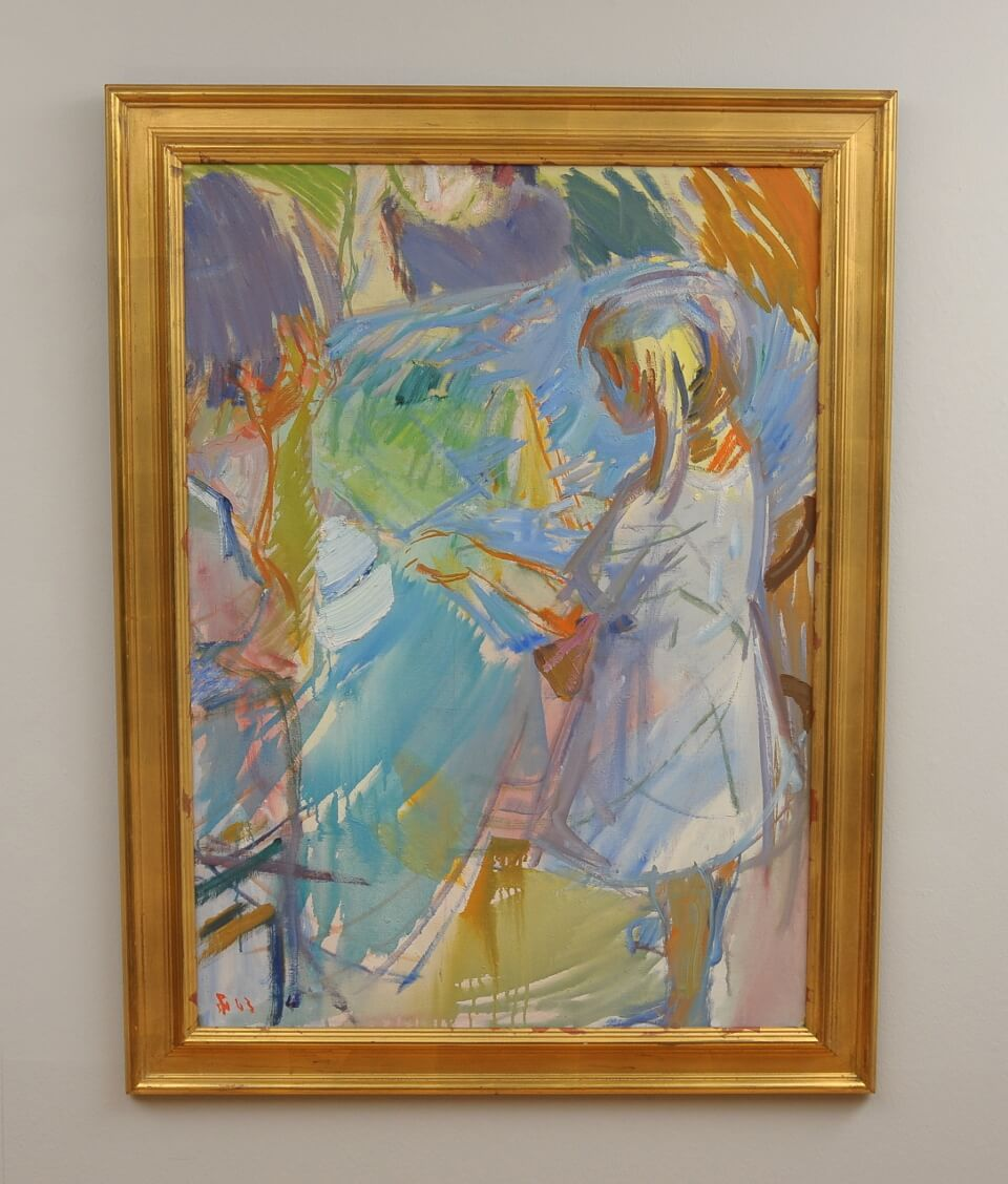 Galerie RIECK - Poul S. Nielsen_Mädchen am Tisch_mit Rahmen