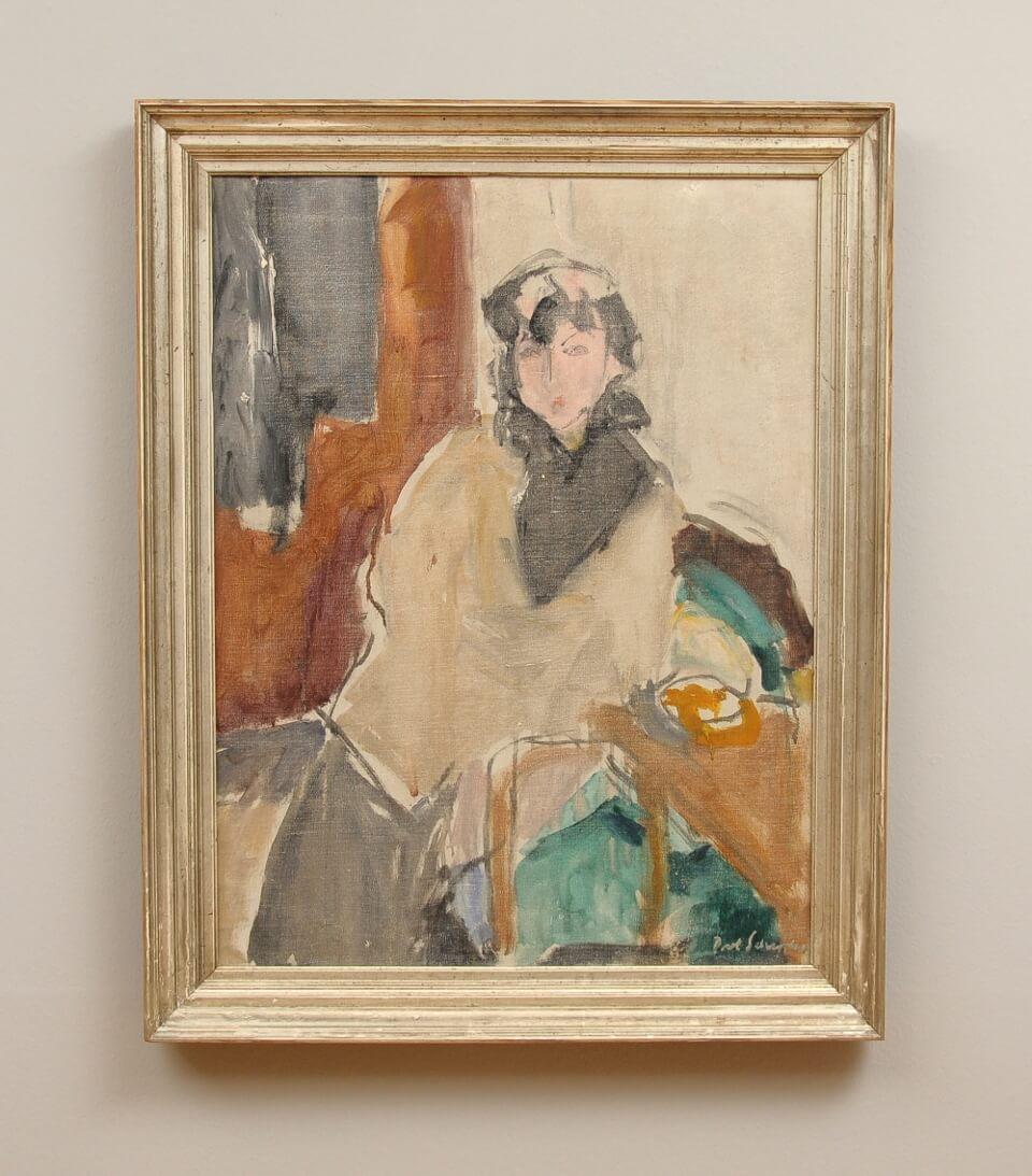 Galerie RIECK - Poul Schrøder_Auf dem grünen Sofa_mit Rahmen