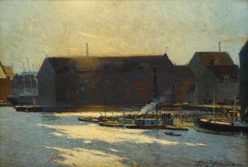 Galerie RIECK - Victor Qvistorff_Gegenlicht im Hafen