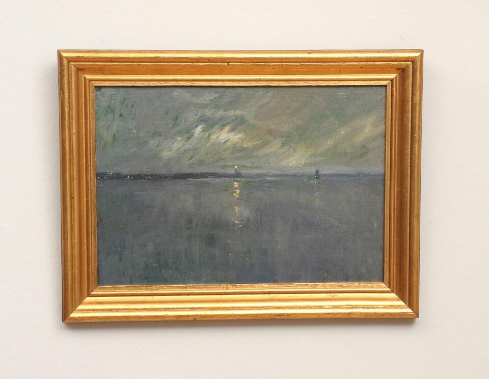 Galerie RIECK - Victor Qvistorff_Leuchtfeuer in der Dämmerung_mit Rahmen