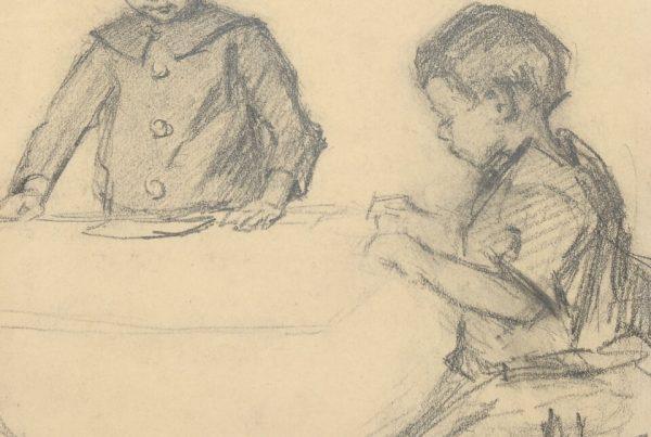 Galerie RIECK - Viggo Johansen_Bleistiftstudie Kinder
