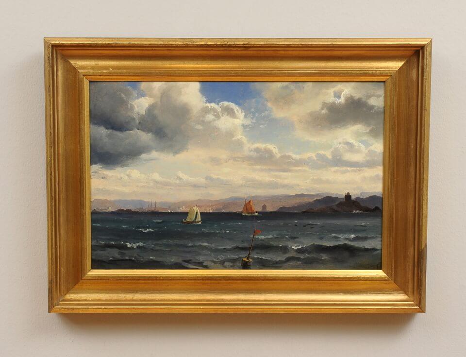 Galerie RIECK - Carl Fred. Sørensen_Segler vor Kullen_mit Rahmen
