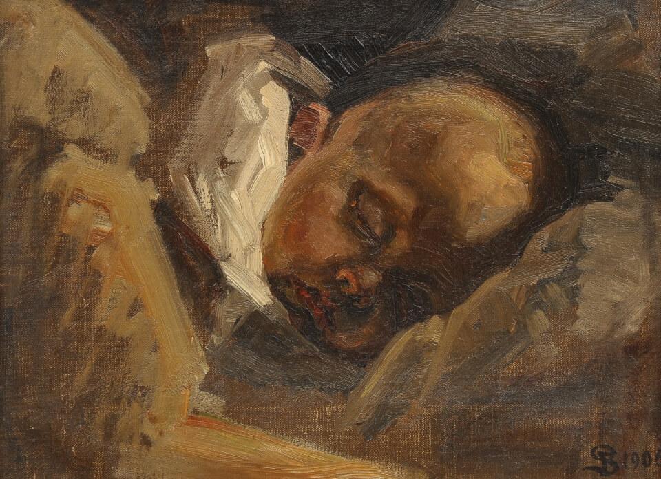 Galerie RIECK - Fritz Syberg_Schlafender Sohn Ernst