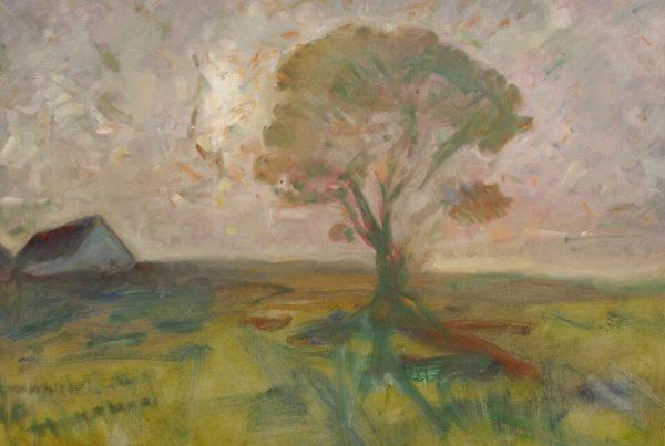 Galerie RIECK - Julius Paulsen_Landschaft im Gegenlicht