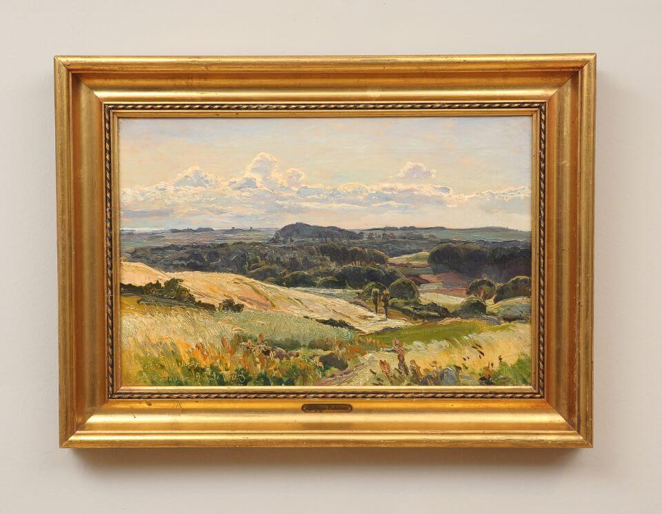Galerie RIECK - Viggo Pedersen_Landschaft bei Holmstrup_mit Rahmen